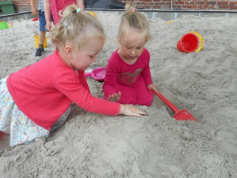 Zandbak-kleuters